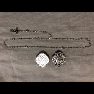 Silver rosary from the Vatican